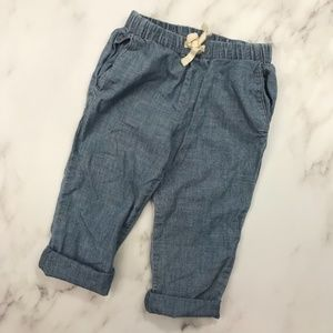 Toddler Girl Chambray Rolled Cuffed Jeans